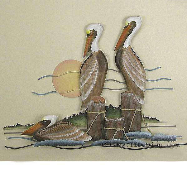 Pelican Trio Wall Art - Hurricane Rita
