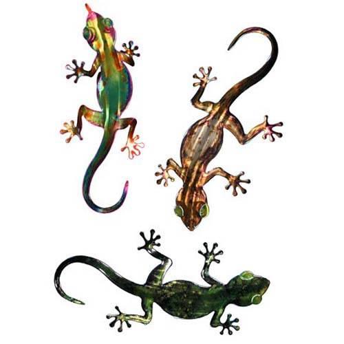 3D Metal Wall Frogs Set of 3 - Hurricane Rita
