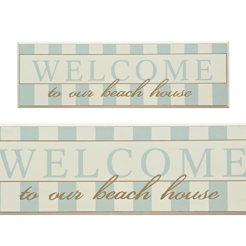 Welcome To Our Beach House Sign: Welcome To Our Beach House Wall Sign